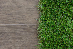 Artificial grass and tile background Royalty Free Stock Photos
