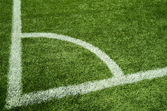 Artificial Grass with White Line Stock Images