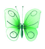 Artificial green butterfly Royalty Free Stock Photos