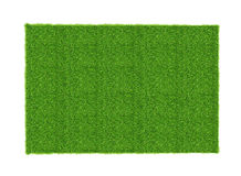 Artificial green grass sheet isolated on white background. Artificial green spring grass sheet isolated on white background royalty free stock images