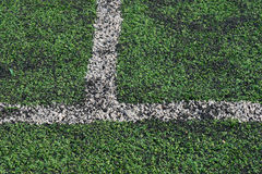 Artificial green grass soccer field Royalty Free Stock Photo