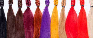 Artificial Hair Used for Production of Wigs Royalty Free Stock Images