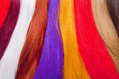 Artificial Hair Used for Production of Wigs Royalty Free Stock Photos