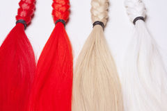 Artificial Hair Used for Production of Wigs Stock Images
