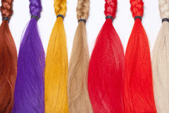Artificial Hair Used for Production of Wigs Stock Photography