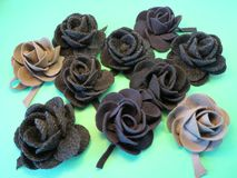 Felt roses Royalty Free Stock Image