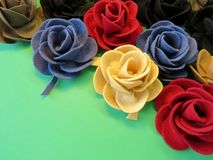 Felt roses Royalty Free Stock Photo