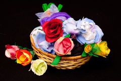 Artificial handmade roses Stock Image