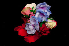 Artificial handmade roses Royalty Free Stock Photo