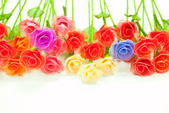 Artificial handmade roses Royalty Free Stock Photography