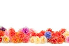 Artificial handmade roses Stock Photos