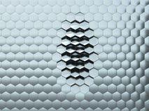 Artificial hexagonal surface Vector Illustration