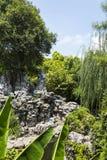Artificial hill in Nanjing Ming dynasty palace - zhan garden Stock Photo