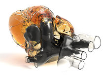 Artificial human heart Stock Images