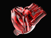 Artificial human heart Stock Photography