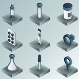 Artificial insemination icon set. Artificial insemination color gradient isometric icons. Vector illustration, EPS 10 Royalty Free Stock Photo