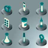 Artificial insemination icon set. Artificial insemination color isometric icons. Vector illustration, EPS 10 Royalty Free Stock Image