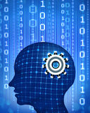 Artificial intelligence. Human brain and data Stock Photo