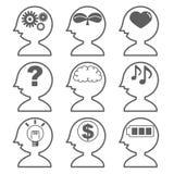 Artificial intelligence - AI icon set `side` stock illustration