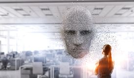 Free Artificial Intelligence And Future Technologies. Mixed Media Stock Photography - 138694332