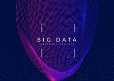Artificial intelligence background. Technology for big data, vis royalty free stock image