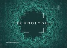 Artificial intelligence background. Technology for big data, vis royalty free stock photo