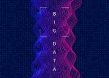 Artificial intelligence background. Technology for big data, vis royalty free stock images