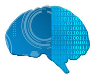 Artificial Intelligence Binary Techy Brain Stock Photo
