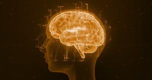 Artificial intelligence brain hologram rotation