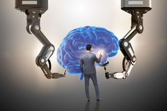 The artificial intelligence concept with businessman Stock Images