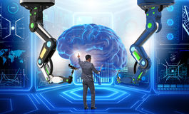 The artificial intelligence concept with businessman Royalty Free Stock Photos