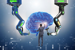 The artificial intelligence concept with businessman Royalty Free Stock Photography