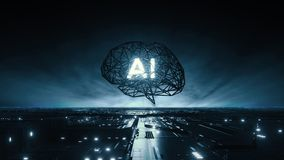 Free Artificial Intelligence Concept Grid Brain Royalty Free Stock Images - 157734649