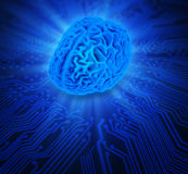 Artificial intelligence concept illustration Royalty Free Stock Photo