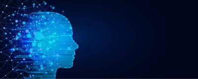 Free Artificial Intelligence Concept. Virtual Technology Web Background. Machine Learning And Cyber Mind Domination Concept Royalty Free Stock Image - 153204936