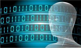 Artificial Intelligence Conceptual Illustration Wallpaper. vector illustration