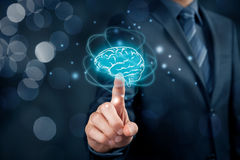Artificial intelligence and creativity Royalty Free Stock Image