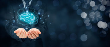 Artificial intelligence and creativity Royalty Free Stock Photography