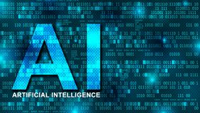 Artificial Intelligence digital background concept royalty free stock photo