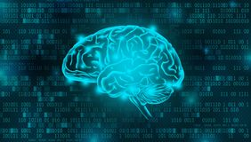 Artificial Intelligence digital background concept royalty free stock images