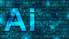 Artificial Intelligence digital background concept royalty free stock photos