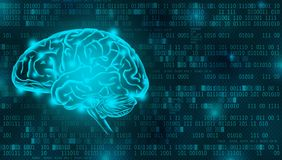 Artificial Intelligence digital background concept royalty free stock photography