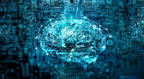 Artificial Intelligence digital Brain future technology Stock Photo