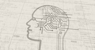 Artificial Intelligence futuristic sketch