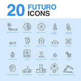 20 Artificial intelligence icon pack. Royalty Free Stock Photography