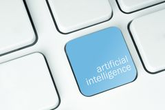 Artificial Intelligence key royalty free stock image