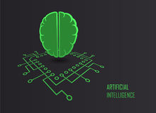 Artificial intelligence machine learning vector Stock Photography