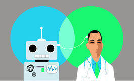Artificial Intelligence in medicine Stock Photography