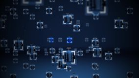 Artificial Intelligence or Nanobytes algorithm concept