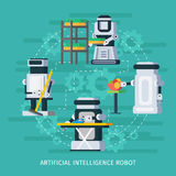 Artificial Intelligence Round Composition Royalty Free Stock Photography
